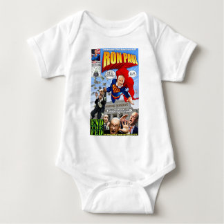 Ron Paul Super Hero Comic Book Baby Bodysuit