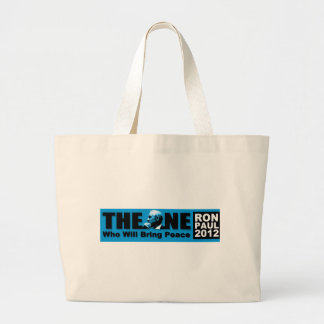 Ron Paul: The ONE Who Will Bring Peace Large Tote Bag