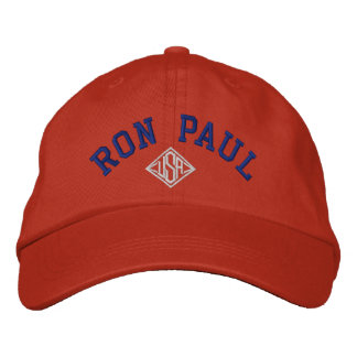 RON PAUL U.S.A. Men's Basic Adjustable Cap Embroidered Baseball Caps