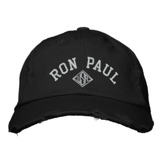 RON PAUL U.S.A. Men's Distressed Chino Twill Cap Baseball Cap