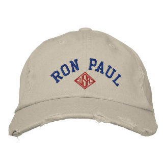 RON PAUL U.S.A. Men's Distressed Chino Twill  Cap Embroidered Baseball Caps
