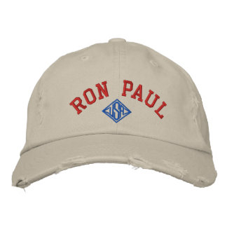 RON PAUL U.S.A. UNISEX Distressed Chino Twill Cap Embroidered Baseball Cap