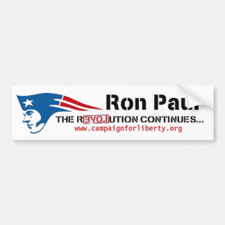 Ron Paul's Campaign for Liberty patriot revolution Bumper Sticker