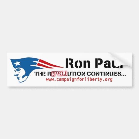 Ron Paul's Campaign for Liberty patriot revolution Bumper Sticker