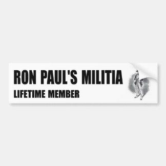 Ron Paul's Militia bumper sticker