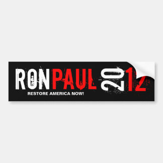 Ron Pual 2012 - Restore America Now Bumper Sticker
