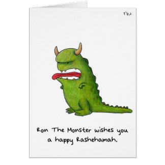 """Ron the Monster"" - Rosh Hashanah Card"