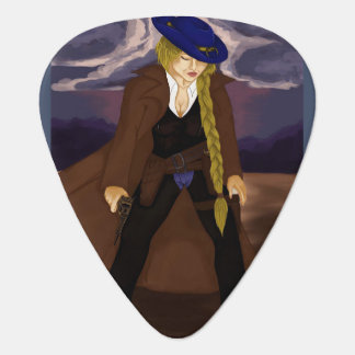 Ron Washburn's Classic: The Lady Gunslinger Guitar Pick
