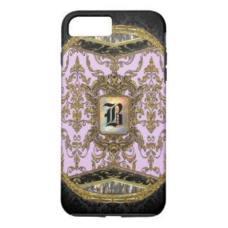 Rona Damasked Girly Monogram iPhone 7 Plus Case