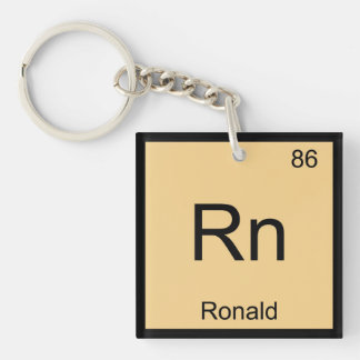 Ronald Name Chemistry Element Periodic Table Single-Sided Square Acrylic Keychain
