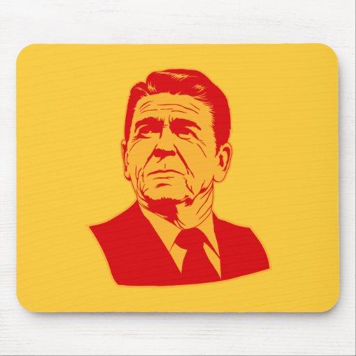 Ronald Reagan 1980 retro portrait Mouse Pads