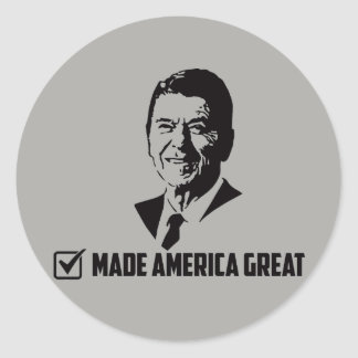Ronald Reagan  - Ah, The Good old Days! Classic Round Sticker