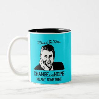 Ronald Reagan - Change and Hope Two-Tone Coffee Mug