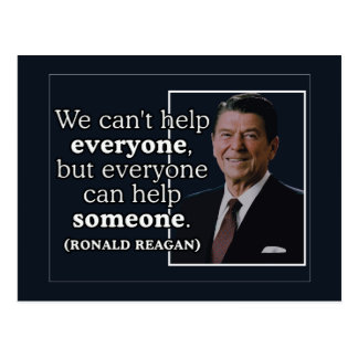 Ronald Reagan 'Help' quote Postcard