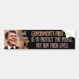 Ronald Reagan on Government's Duty Bumper Sticker