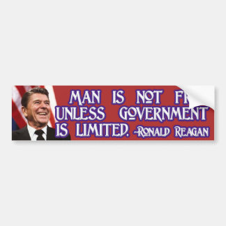 Ronald Reagan on Limited Government & Freedom Car Bumper Sticker