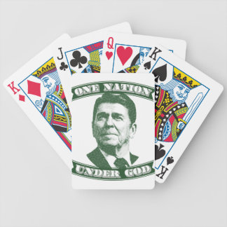 Ronald Reagan One Nation Under God Bicycle Playing Cards