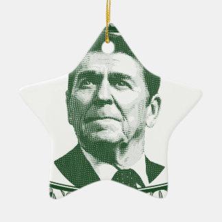 Ronald Reagan One Nation Under God Ceramic Star Ornament