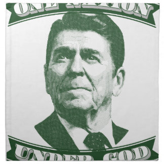 Ronald Reagan One Nation Under God Napkin