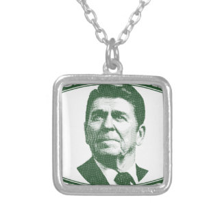 Ronald Reagan One Nation Under God Silver Plated Necklace