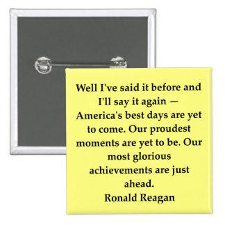 ronald reagan quote 2 inch square button