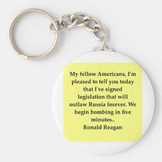 ronald reagan quote basic round button keychain