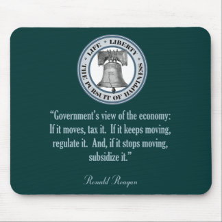 Ronald Reagan Quote (Government's View) Mouse Pad