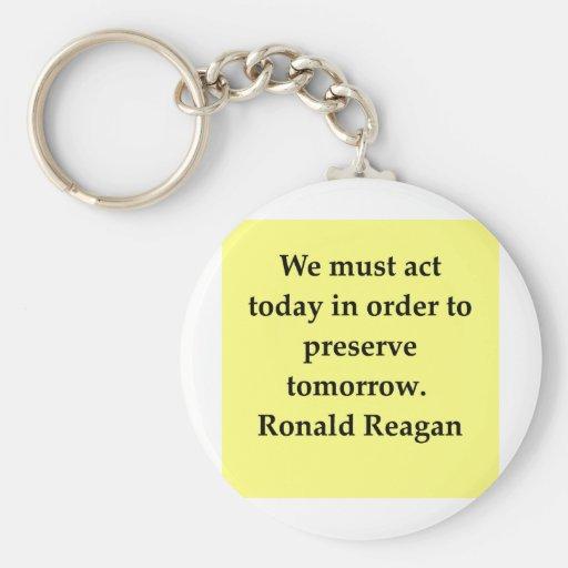 ronald reagan quote key chain