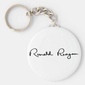 Ronald Reagan Signature Basic Round Button Keychain