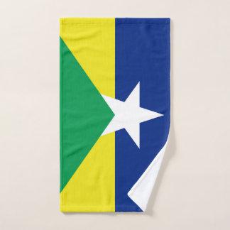 Rondonia flag Brazil region province symbol Hand Towel