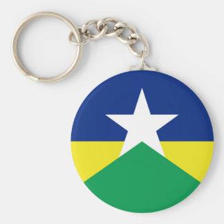 Rondonia flag Brazil region province symbol Keychain