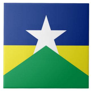 Rondonia flag Brazil region province symbol Tile