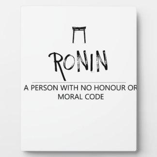 Ronin Plaque