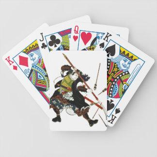 Ronin Samurai Deflecting Arrows Japanese Japan Art Bicycle Playing Cards