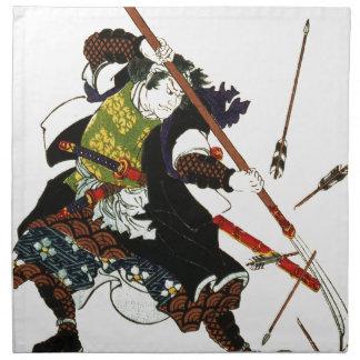 Ronin Samurai Deflecting Arrows Japanese Japan Art Cloth Napkins