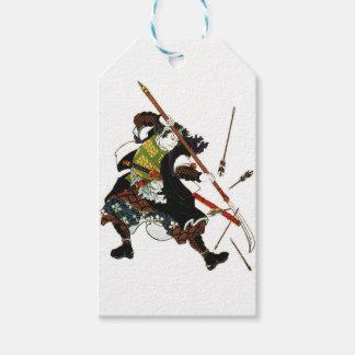 Ronin Samurai Deflecting Arrows Japanese Japan Art Gift Tags