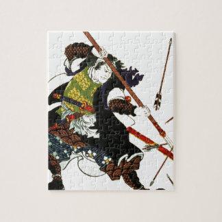 Ronin Samurai Deflecting Arrows Japanese Japan Art Jigsaw Puzzle