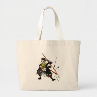 Ronin Samurai Deflecting Arrows Japanese Japan Art Large Tote Bag