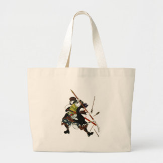 Ronin Samurai Deflecting Arrows Japanese Japan Art Large Tote Bag