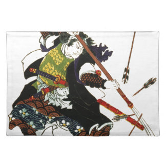Ronin Samurai Deflecting Arrows Japanese Japan Art Place Mats