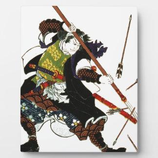 Ronin Samurai Deflecting Arrows Japanese Japan Art Plaque