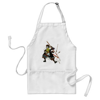 Ronin Samurai Deflecting Arrows Japanese Japan Art Standard Apron