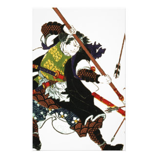 Ronin Samurai Deflecting Arrows Japanese Japan Art Stationery