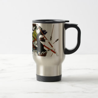 Ronin Samurai Deflecting Arrows Japanese Japan Art Travel Mug