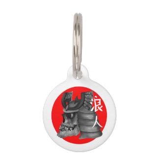 Ronin Samurai Japan Flag Pet Name Tags