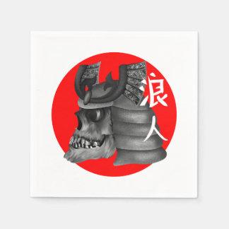 Ronin Samurai Japanese Flag Disposable Napkins