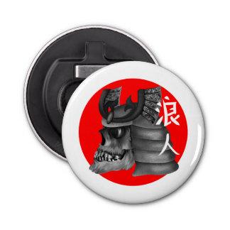 Ronin Samurai Warrior Button Bottle Opener