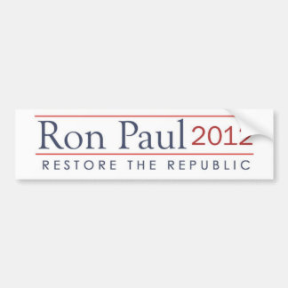 ronpaul_restore_the_republic 2012 bumper sticker