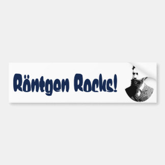 """Rontgen Rocks"" Bumper Sticker"