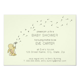 Roo Bunny - Dandelion Wishes Baby Shower Card